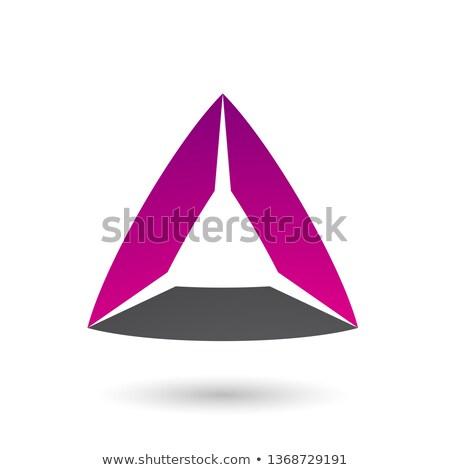пурпурный черный треугольник вектора иллюстрация изолированный Сток-фото © cidepix