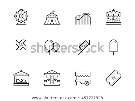 Amusement park icon set Stock photo © netkov1