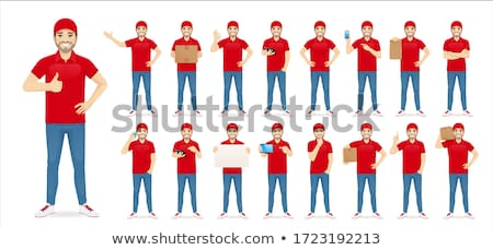 vector set of delivery man Stock photo © olllikeballoon