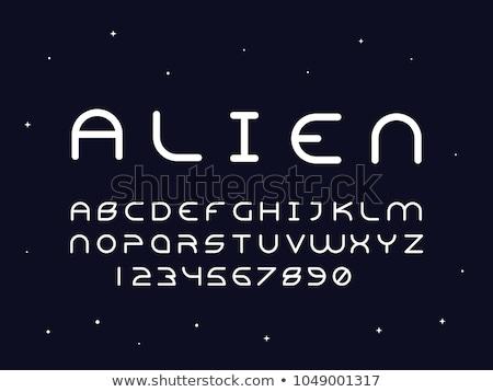 A letter A for alien Stock photo © colematt