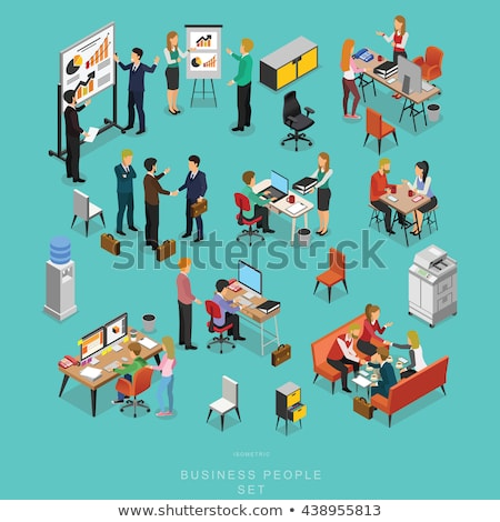 Vector concept business report creative business illustration with working people.  stock photo © Giraffarte