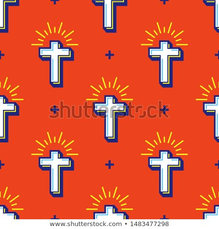 Christianity flat pattern ストックフォト © netkov1