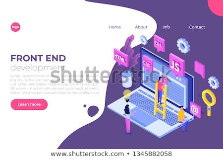 Front koniec rozwoju internetowych banner oprogramowania Zdjęcia stock © RAStudio