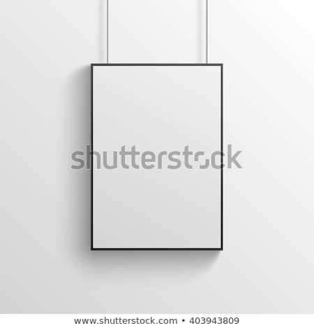 vector · opknoping · poster · witte · paperclip - stockfoto © trikona