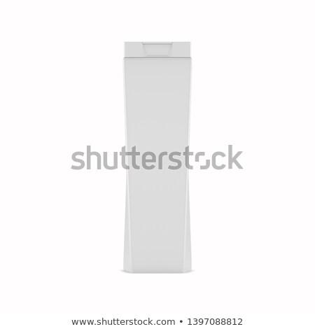 Plastic non-transparent bottle for shampoo, 3D illustration. Stock photo © kup1984