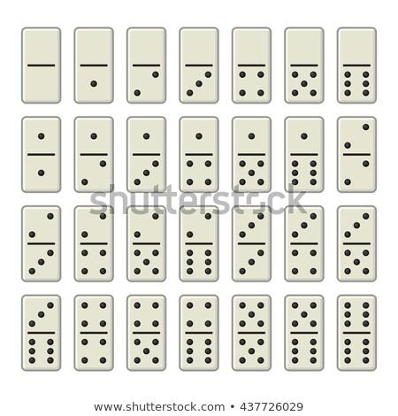 Domino tok ayarlamak kemikleri işaretleri yalıtılmış Stok fotoğraf © Andrei_