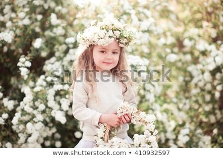 улыбаясь ребенка год старые Постоянный корзины Сток-фото © ElenaBatkova