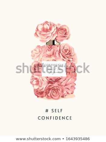 parfüm · kız · güzel · sarışın · şişe - stok fotoğraf © Artlover