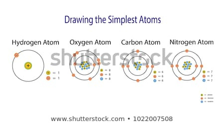 Oxigênio átomo diagrama ilustração projeto tecnologia Foto stock © bluering