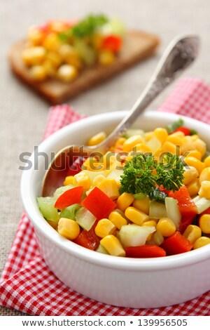 Rogge brood eigengemaakt mais salsa Stockfoto © Melnyk
