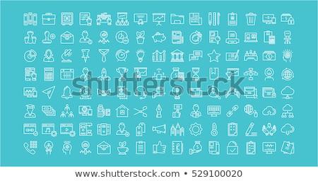 Konferencia ikon szett üzletemberek munkacsoport kommunikáció izolált Stock fotó © netkov1