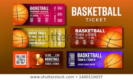 Stijlvol ontwerp basketbal spel tickets ingesteld Stockfoto © pikepicture