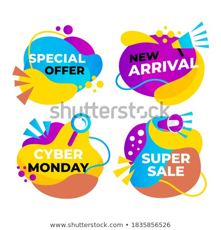 big super price sell offer vector liquid tags set stock photo © robuart