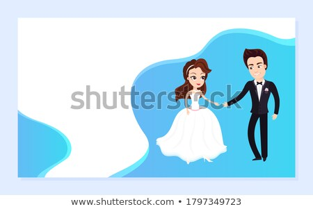 wedding planning man and woman dancing website stock photo © robuart