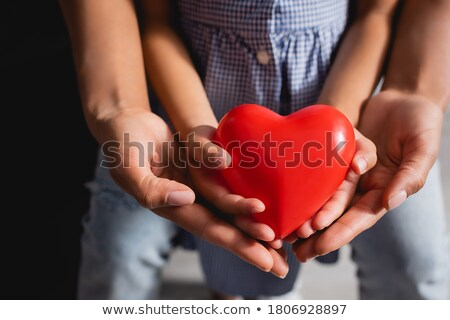 Mother And Daughter Holding Red Heart Stock photo © AndreyPopov