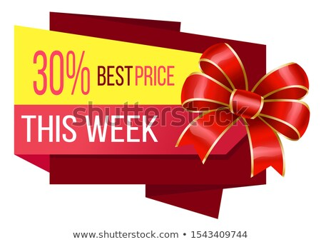 Best Price This Week 30 Percent Off Banner Vector Stock photo © robuart
