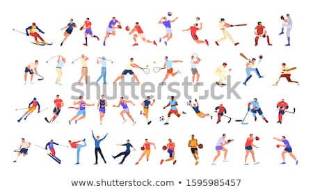 Set of different sporting people Stock photo © bluering