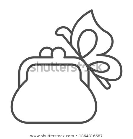 Kozmetikai pillangó felirat vektor vékony vonal Stock fotó © pikepicture