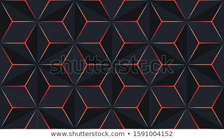 Red and Black Embossed Hexagon Background Vector Illustration Stock photo © cidepix