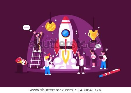 rakietowe · zabawki · odizolowany · biały · baby · dziecko - zdjęcia stock © jossdiim
