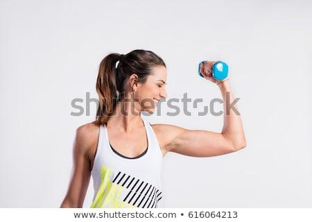 Jonge vrouw triceps mooie atletisch Stockfoto © Jasminko