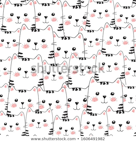Set of seamless hand drawn patterns in doodle style. Creative repeatable drawing contour backgrounds Stock photo © ExpressVectors