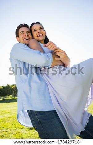 Alulról fotózva kilátás fiatal kaukázusi férfi hordoz Stock fotó © wavebreak_media