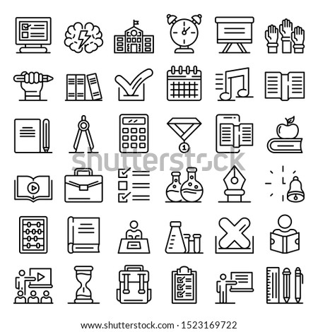 Computer Programming Graduation Icon Vector Outline Illustration Stock photo © pikepicture