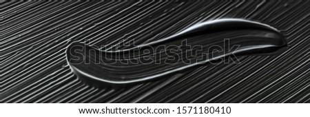 Cosméticos abstrato textura preto acrílico paint brush Foto stock © Anneleven