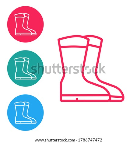 Gardening boots. Outline icon in a circle. Footwear vector illustration Stock photo © Imaagio