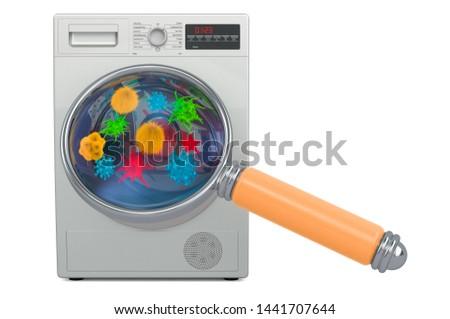 стиральная машина вирус белый изолированный 3D 3d иллюстрации Сток-фото © ISerg