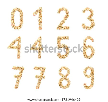 Digits made from Pencil Shavings Stock photo © filipw