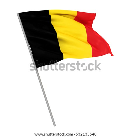 3D rendering of the national flag of Belgium waving in the wind Stock photo © butenkow
