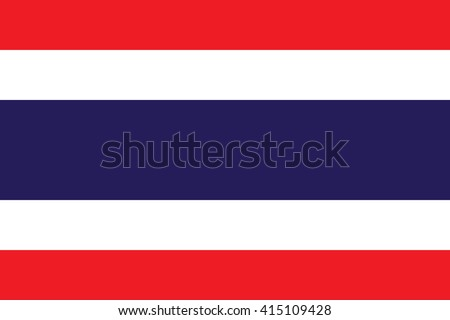 Thailand vlag witte wereld achtergrond reizen Stockfoto © butenkow