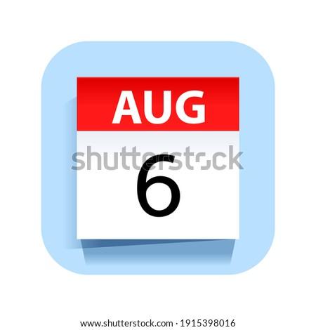 Simples preto calendário ícone agosto data Foto stock © evgeny89