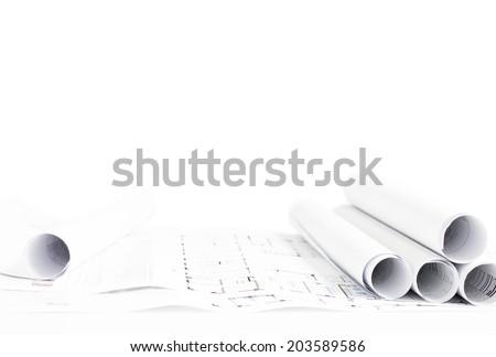Mühendislik beyaz ilerleyin ayrıntılı ev plan Stok fotoğraf © evgeny89