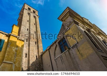 Kilise Venedik İtalya kule taş mimari Stok fotoğraf © boggy