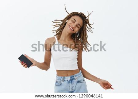Görüntü eğlenceli kadın eğlence Stok fotoğraf © deandrobot