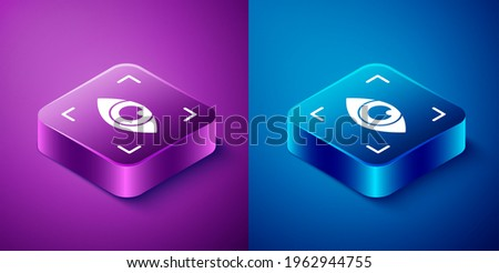 Eye Biometric Data And Information isometric icon vector illustration Stock photo © pikepicture