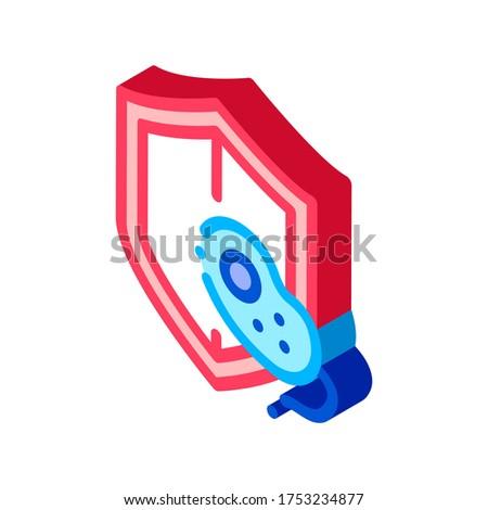 Biztosíték egészségügy baktériumok izometrikus ikon vektor Stock fotó © pikepicture