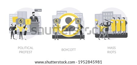 Public objection and disapproval abstract concept vector illustrations. Stock photo © RAStudio