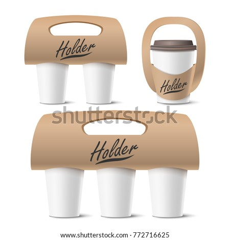 Coffee cup holder mockup Stock photo © montego