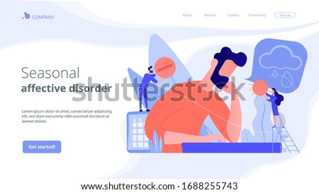 Seizoen- wanorde landing pagina zakenman gevoel Stockfoto © RAStudio