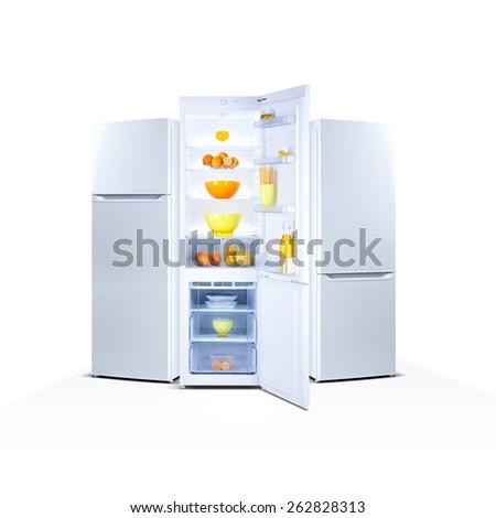 Lodówce urządzenie lodówka naprawy usługi kawy Zdjęcia stock © AndreyPopov