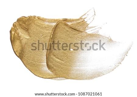 Golden cream smear Stock photo © goir