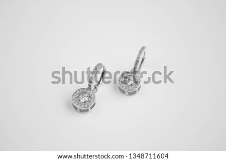Women's silver earrings  Stock photo © grafvision