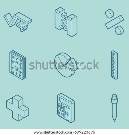 Matemáticas calculadora icono vector signo Foto stock © pikepicture