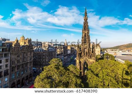Edinburgh · gótikus · író · épület · nyár · városi - stock fotó © sumners