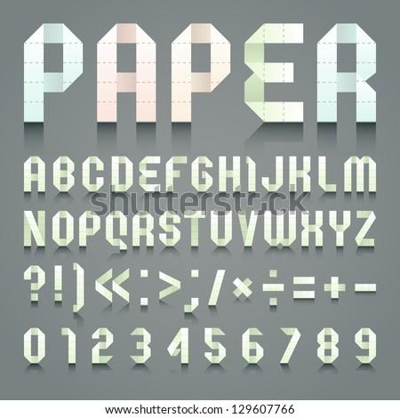 Alphabet folded of toilet blue paper Stock photo © Ecelop