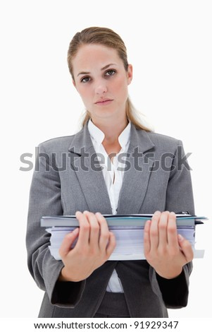 Wanhopig kantoor werknemer papierwerk witte Stockfoto © wavebreak_media